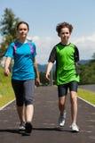 Kids running, jumping outdoor Stock Image