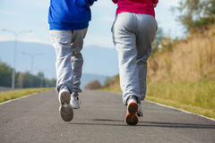 Kids running, jumping outdoor Stock Photography