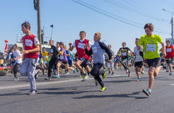 Kids running in Run for Life competition during City Day local activity Royalty Free Stock Photography