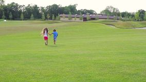 Kids are running. stock footage