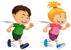 Kids Running on White Background. Illustration vector illustration