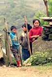 Kids in Sa Pa. Tree kids in the Sa Pa Valley in Vietnam royalty free stock photography