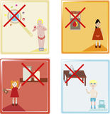 Kids safety icons Royalty Free Stock Photo