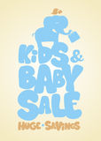 Kids sale design template. Royalty Free Stock Image