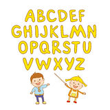 Kids school art  boy, abc, alphabet, aducation, Stock Image