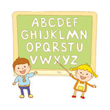 Kids school art  boy, abc, alphabet, aducation, Stock Photo
