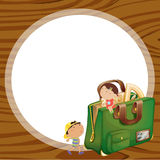 Kids and school bag Royalty Free Stock Image