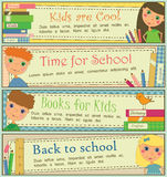 Kids in School Banners Stock Image