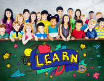 Kids School Education Learn Wisdom Young Concept Stock Image