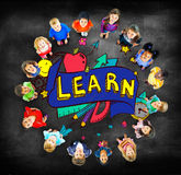 Kids School Education Learn Wisdom Young Concept Stock Images
