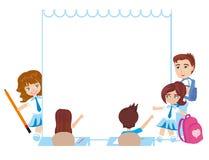 Kids school frame Stock Image