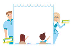 Kids school frame Royalty Free Stock Images