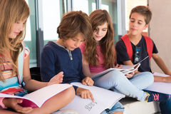 Kids in School Royalty Free Stock Photos
