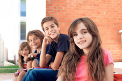 Kids in school Stock Images