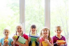 Kids at school royalty free stock photography