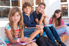 Kids in School stock image