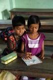 Kids in school. Kumrokhali, India Royalty Free Stock Photo