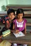 Kids in school. Kumrokhali, India Royalty Free Stock Image