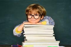 Kids school. Talented child. Schoolboy. Blackboard background. Elementary school. Happy school kids. Kids from primary