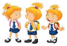 Kids in school uniform Stock Images