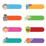 Kids sci-fi tabs Royalty Free Stock Photo