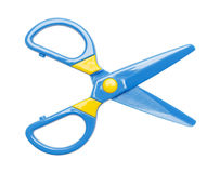 Kids Scissors Stock Photos