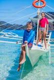 Kids scuba diving Stock Image