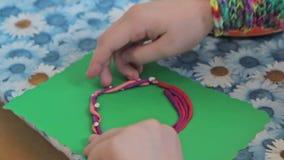 Kids sculpt by plasticine stock video