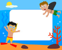 Kids & Sea Photo Frame [1] Stock Photography