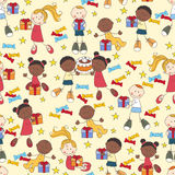 Kids seamless pattern Royalty Free Stock Image