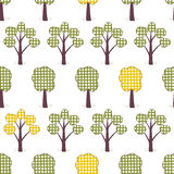 Kids seamless pattern, applique, trees, grass copy. Children white seamless pattern, imitation patchwork Stock Image