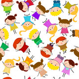 Kids seamless pattern background Royalty Free Stock Photo