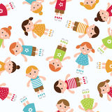 Kids seamless pattern background. Royalty Free Stock Photo