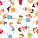 Kids seamless pattern background. Vector illustration Royalty Free Stock Photo