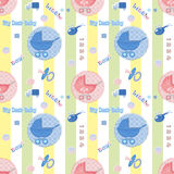 Kids seamless pattern with carriage background Stock Photography