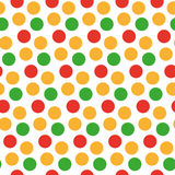 Kids seamless pattern with polka dots. Bright festive background, texture with circles. Vector illustration. Royalty Free Stock Image