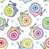 Kids seamless pattern with snails Royalty Free Stock Image