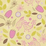 Kids seamless pattern in vector. Seamless pattern with cute birds in vector Royalty Free Stock Photography