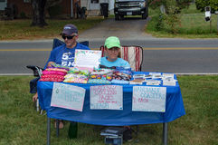 Kids Selling Handmade Items Stock Image