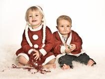 Kids in sepia Stock Image