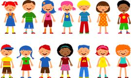 Kids - set of cute illustrations,  Royalty Free Stock Photo
