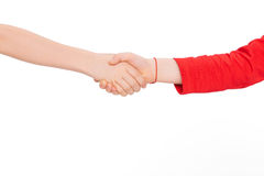 Kids shaking hands stock photos