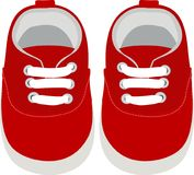 Kids Shoes. Simple Vector Illustration Royalty Free Stock Images