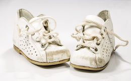 Kids Shoes Untied Royalty Free Stock Photography