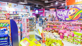 Kids shop in Vilnius. Panorama shopping mall, shop for kids in Vilnius, Lithuania Stock Photos