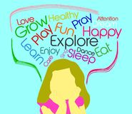 Kids Should. Children activity words Stock Photos