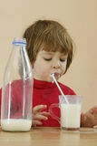 Kids should drink milk royalty free stock photo