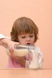 Kids should drink milk Royalty Free Stock Image