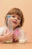 Kids should drink milk Stock Images