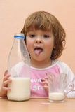 Kids should drink milk Royalty Free Stock Photos